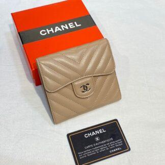 chanel canta camel silver chevron mini cuzdan 11x9 cm