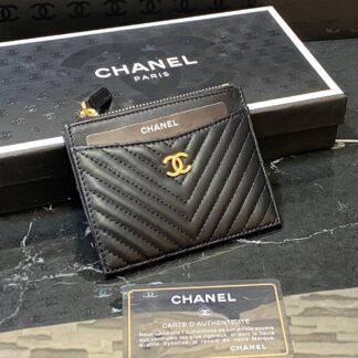 chanel canta kartlik siyah gold chevron