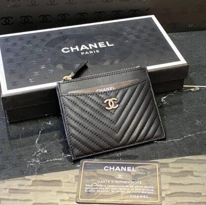 chanel canta kartlik siyah silver chevron
