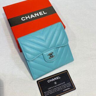 chanel canta mavi silver chevron mini cuzdan 11x9 cm