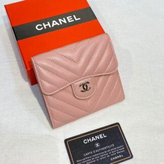 chanel canta pudra pembe silver chevron mini cuzdan 11x9 cm