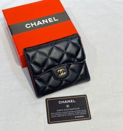 chanel canta siyah gold kapitone mini cuzdan