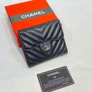 chanel canta siyah silver chevron mini cuzdan 11x9 cm