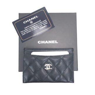 chanel canta siyah silver kapitone havyar kartlik 11.2x7.5 cm