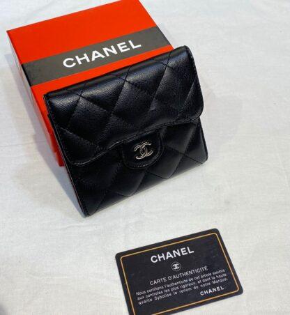 chanel canta siyah silver kapitone mini cuzdan