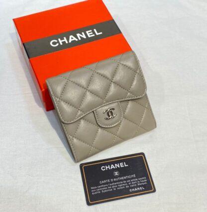 chanel canta vizon silver kapitone mini cuzdan