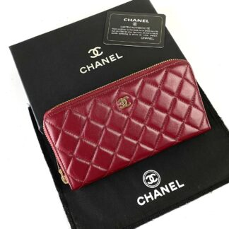 chanel canta zippy bordo gold kapitone cuzdan 19.5x10 cm