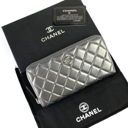 chanel canta zippy silver kapitone cuzdan 19.5x10 cm