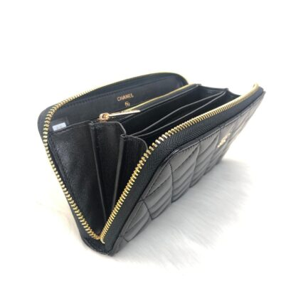 chanel canta zippy siyah gold kapitone cuzdan 19.5x10 cm