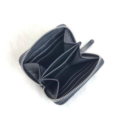 chanel canta zippy siyah silver kapitone mini cuzdan 11x9 cm