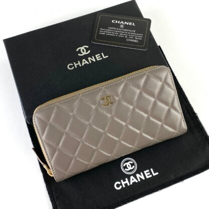 chanel canta zippy vizon gold kapitone cuzdan 19.5x10 cm