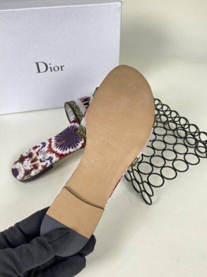 christian dior ayakkabi nakisli terlik pudra yesil
