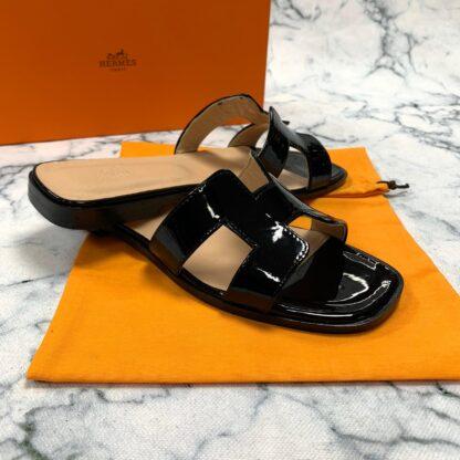 hermes ayakkabi siyah rugan terlik