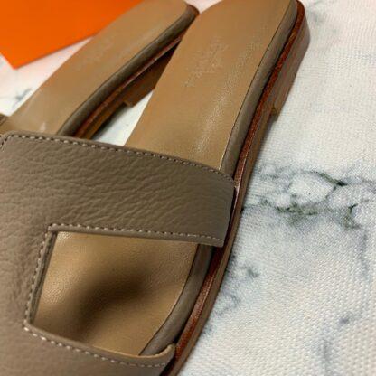 hermes ayakkabi vizon terlik tirtikli deri