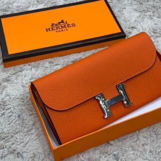 hermes canta turuncu silver constance cuzdan 20x11 cm