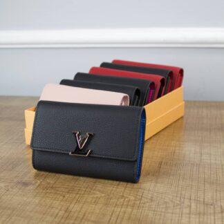 louis vuitton canta cappucines siyah mavi kucuk cuzdan 13.5x9.5x3 cm