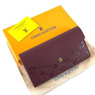 louis vuitton canta sarah bordo cuzdan 19.5x10.5 cm