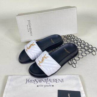 yves saint laurent ayakkabi beyaz terlik