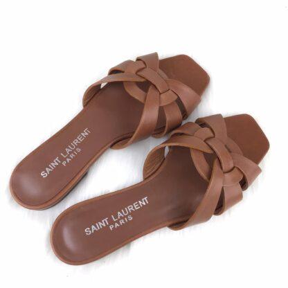 yves saint laurent ayakkabi terlik taba renk