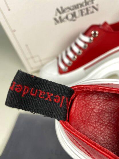 alexander mcqueen ayakkabi tread kirmizi sneakers