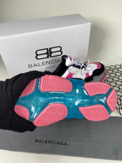 balenciaga ayakkabi sneaker triple s beyaz pembe ithal