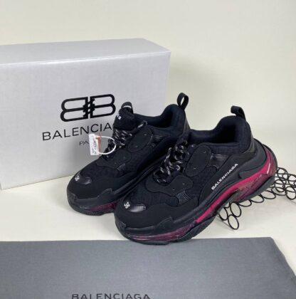 balenciaga ayakkabi sneaker triple s siyah seffaf ithal
