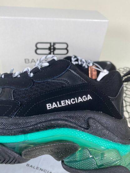 balenciaga ayakkabi sneaker triple s yesil seffaf taban ithal