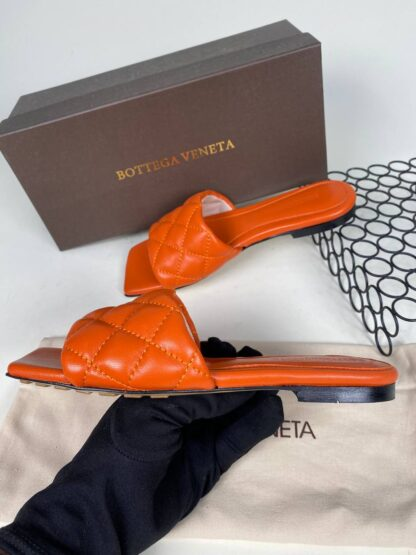bottega veneta ayakkabi turuncu terlik