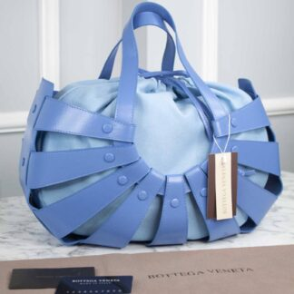 bottega veneta canta shell mavi 40x25 cm