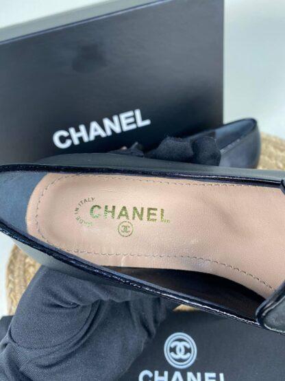 chanel ayakkabi siyah gold tokali loafer