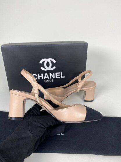 chanel ayakkabi topuklu nude siyah ithal aksesuar