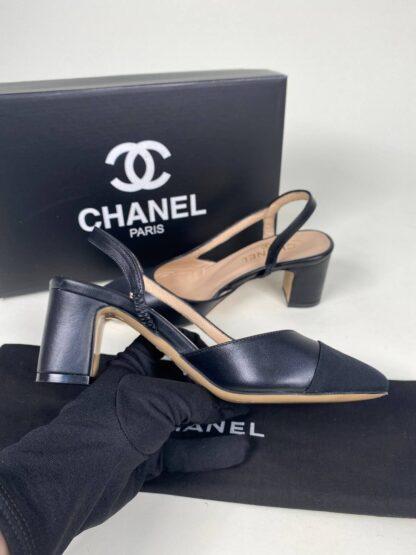 chanel ayakkabi topuklu siyah ithal