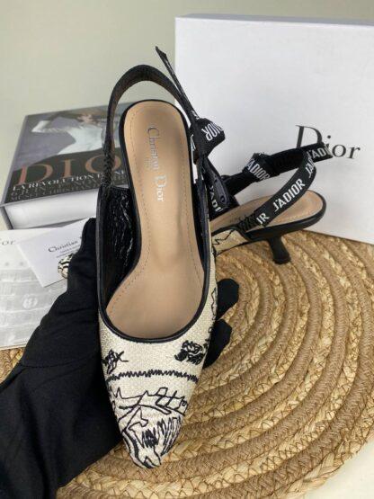 christian dior ayakkabi jadior slingback topuklu nakisli 6 cm