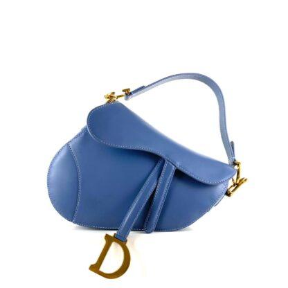 christian dior canta saddle calfskin mavi 25x20x6 cm