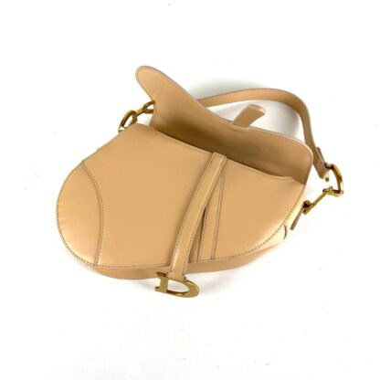 christian dior canta saddle calfskin pudra eskitme altin rengi 25x20x6 cm