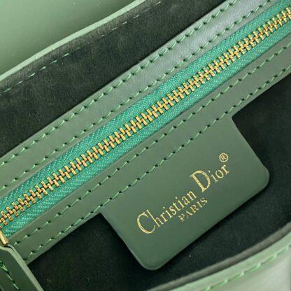 christian dior canta saddle calfskin yesil 25x20x6 cm