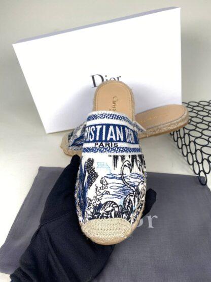 christian dior terlik nakisli beyaz mavi
