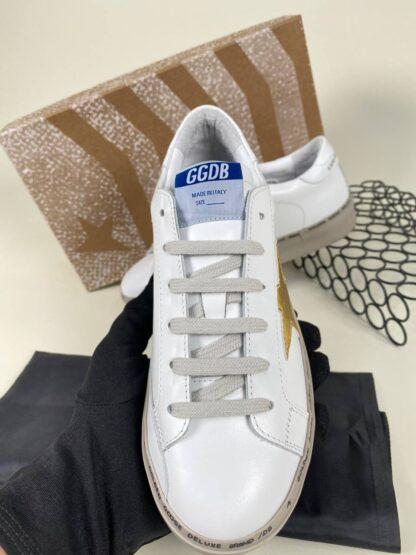 golden goose ayakkabi beyaz gold sneakers taban 3cm