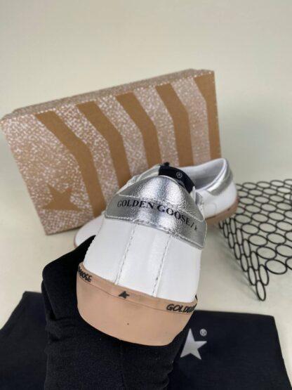 golden goose ayakkabi beyaz pudra silver