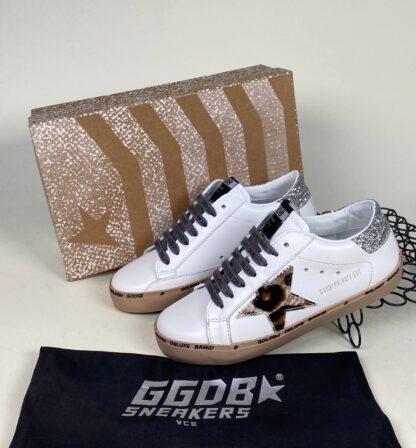 golden goose ayakkabi leopar simli silver sneakers