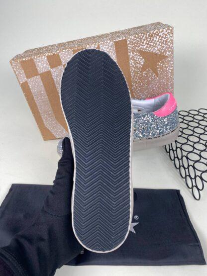 golden goose ayakkabi silver simli beyaz pembe