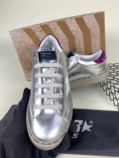 golden goose ayakkabi silver sneakers