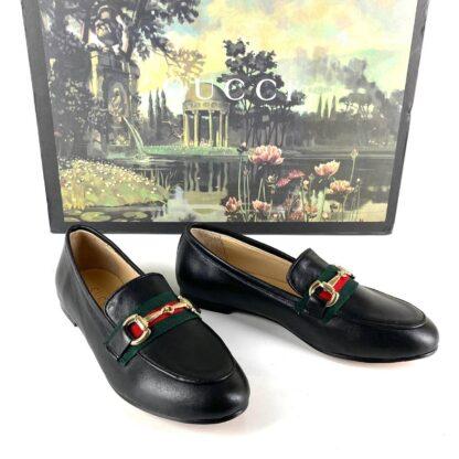 gucci ayakkabi horsebit loafer deri siyah