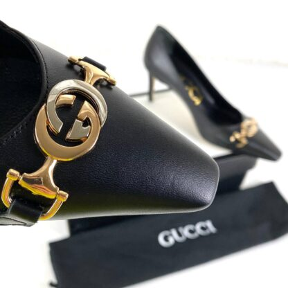 gucci ayakkabi topuklu 11 cm siyah