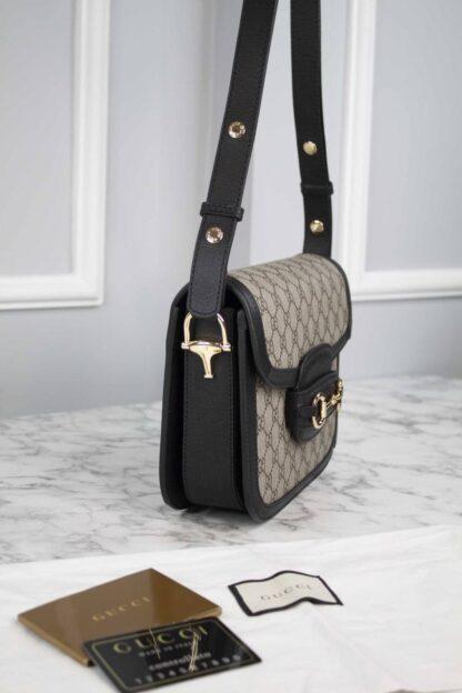 gucci canta horsebit 1955 shoulder siyah klasik 25x18x8 cm