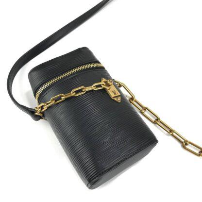 louis vuitton canta telefon cantasi phone box siyah epi 17x10 cm ithal
