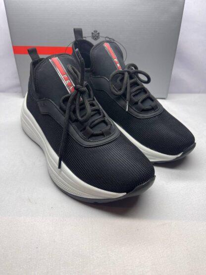 prada ayakkabi erkek sneaker siyah beyaz