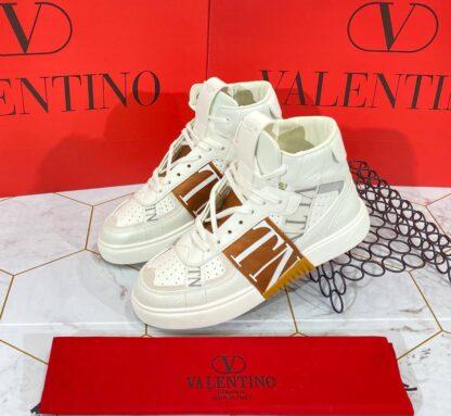 valentino ayakkabi beyaz bot ithal