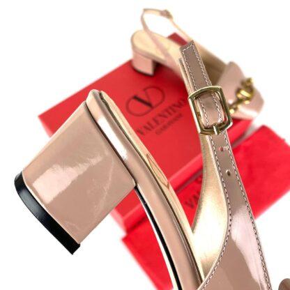 valentino ayakkabi garavani vlogo topuklu pudra rugan 5 cm
