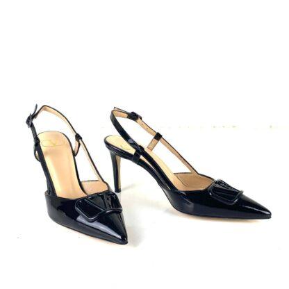 valentino ayakkabi garavani vlogo topuklu siyah rugan